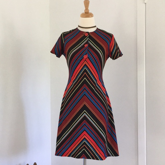 Vintage Dresses & Skirts - Vintage stripe dress
